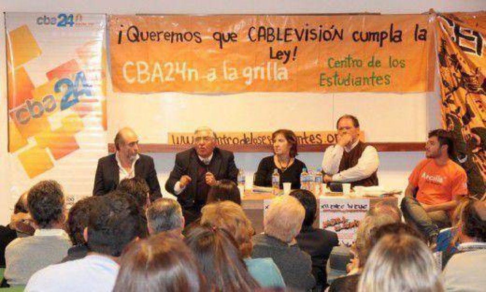Debates y adhesiones para que Cablevisión suba a su grilla al canal universitario