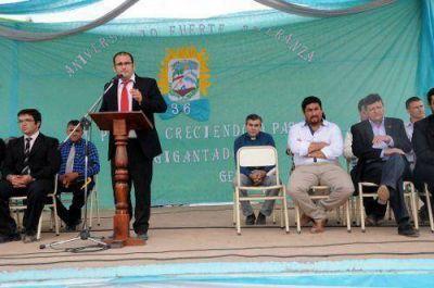 El presidente de la Cámara de Diputados encabezó la celebración por el aniversario de Fuerte Esperanza