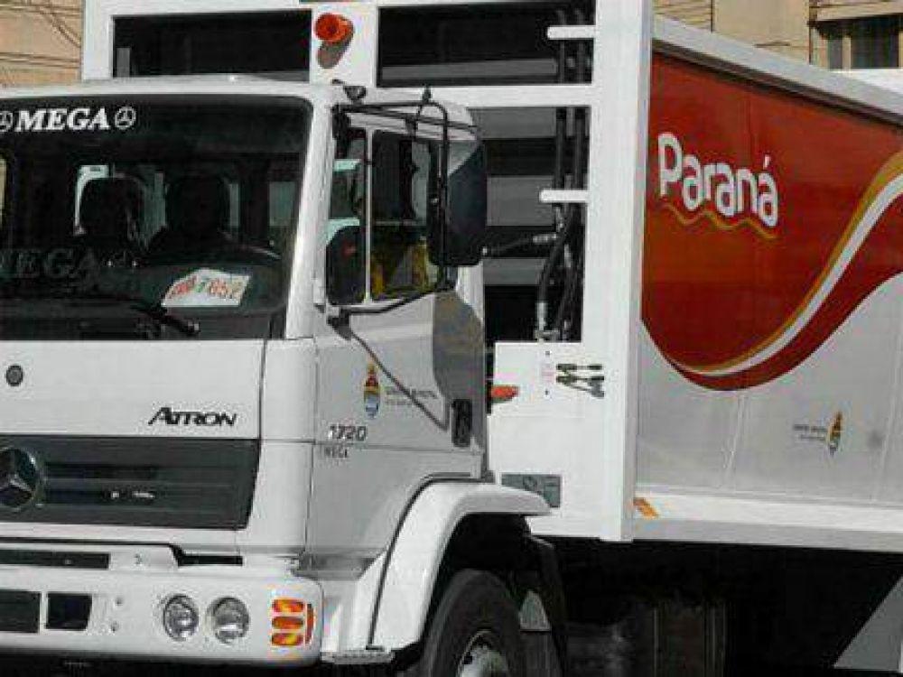 No habrá recolección de residuos esta noche en Paraná