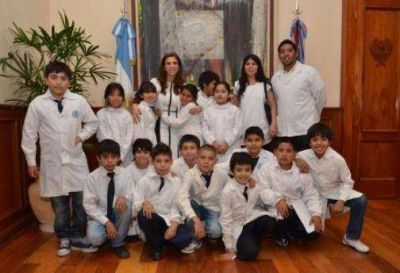 ALUMNOS DE LA ESCUELA NUESTRA SEÑORA DE LAS MERCEDES VISITARON CASA DE GOBIERNO