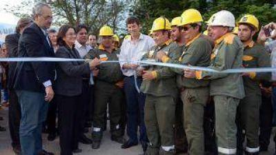 Corpacci inauguró obra que duplica la energía para el sur de la Capital