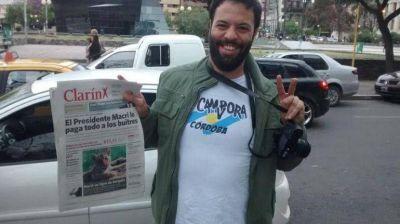 Nuevo ataque a Clarín: La Cámpora reparte un diario trucho