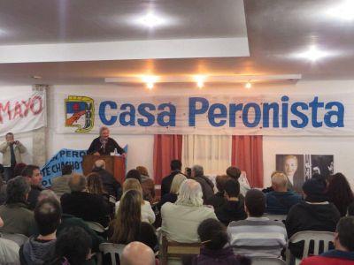 """""""CASA PERONISTA"""" realizó un emotivo acto."""