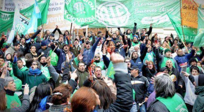 Jornada de paro y movilizaciones de Cicop, ATE, y sector de docentes disidentes