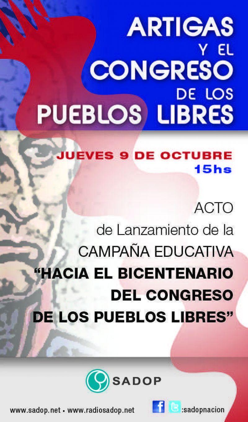 Docentes privados presentan campaña educativa sobre José G. Artigas
