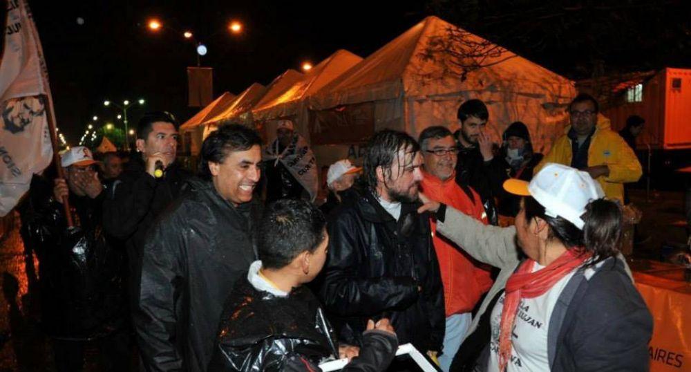 Peregrinación a Luján: uno más en la lluvia