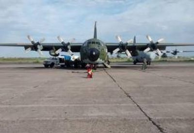 Tunante II: Avión Hércules sobrevuela la zona de búsqueda
