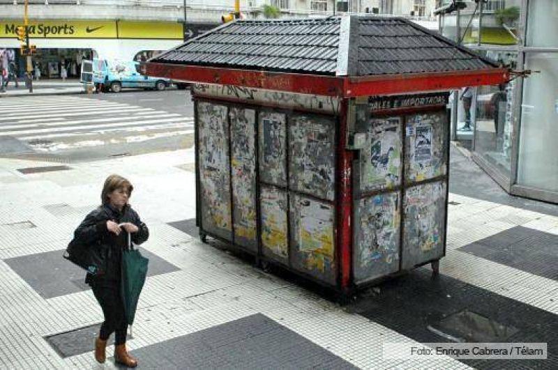 Se siente con fuerza el paro de canillitas en Capital y Buenos Aires
