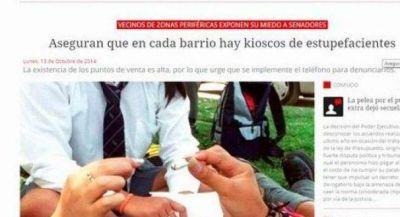 Drogas: nuevo medio de denuncia contra kioscos