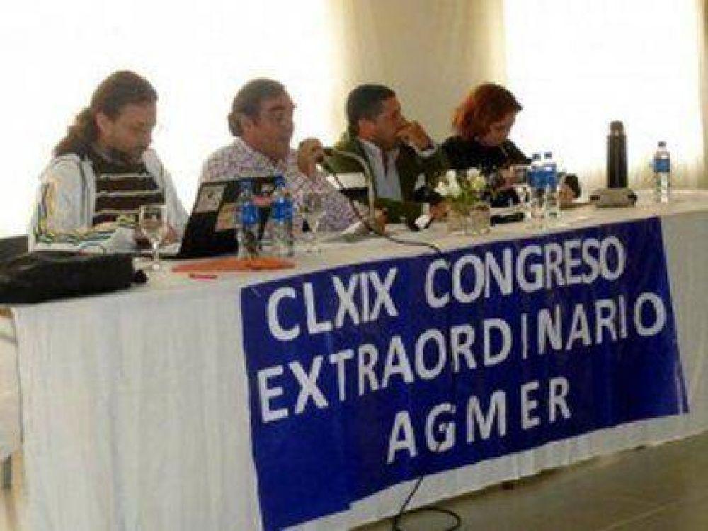 El congreso de AGMER resolvió dos nuevos paros y una movilización provincial