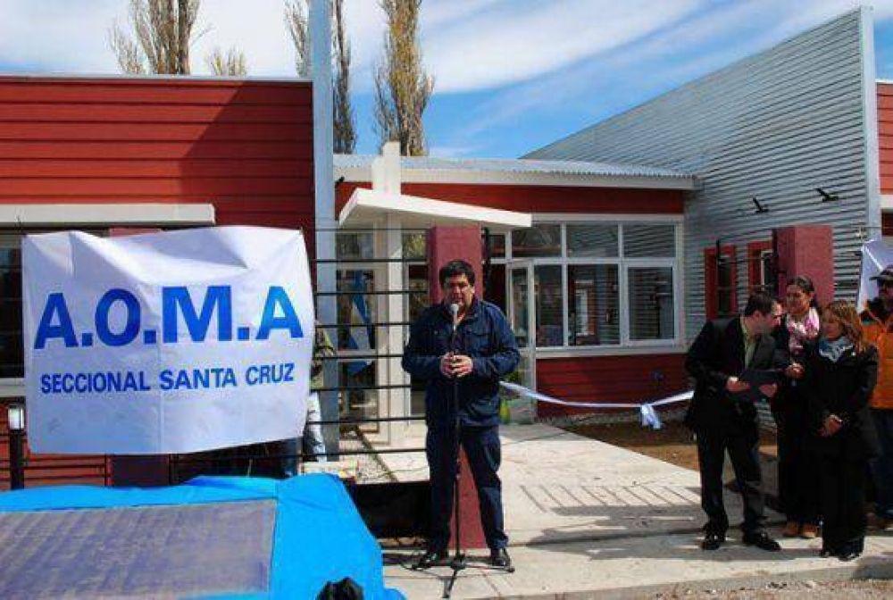 Castro inauguró la sede de AOMA en Perito Moreno