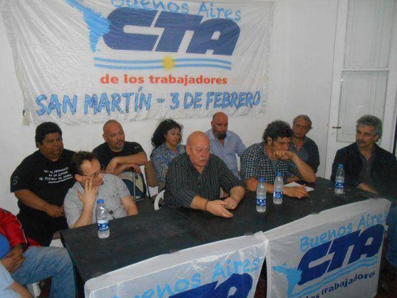 La lista 10 de la CTA oficialista present� sus candidatos de San Mart�n-Tres de Febrero