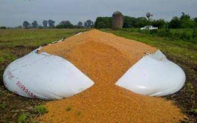 Destruyen un silo bolsa con ma�z en Ca�uelas y acusan al Gobierno