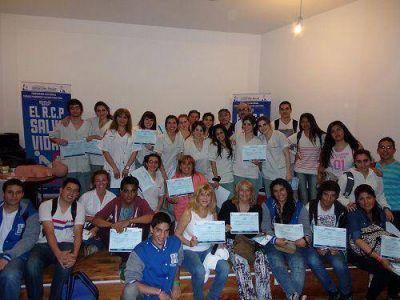 Vivona y Pirillo con trabajadores municipales lanzaron una capacitación de RCP