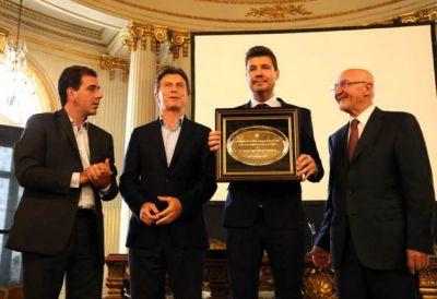 Marcelo Tinelli fue distinguido como Personalidad Destacada de la Cultura