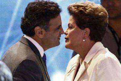 Dilma crece en las encuestas, pero Aécio se mantiene cerca