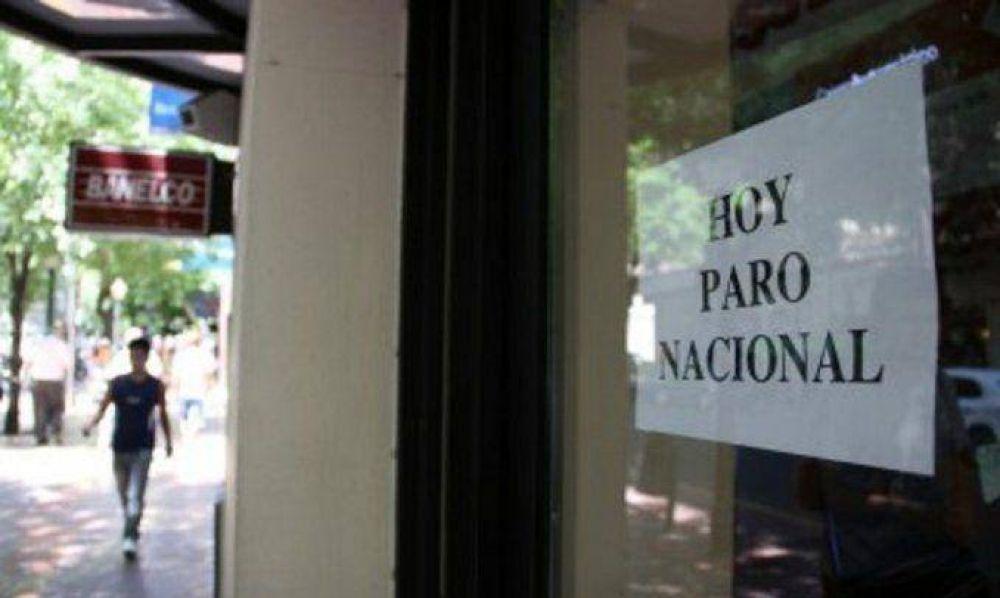 Ratificaron el paro y hoy no habrá atención al público en los bancos