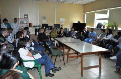 Capacitación sobre eventual intervención ante caso sospechoso de Ébola