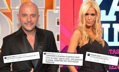 Pelado L�pez y sus sugestivos tweets cuando Viviana Canosa est� al aire
