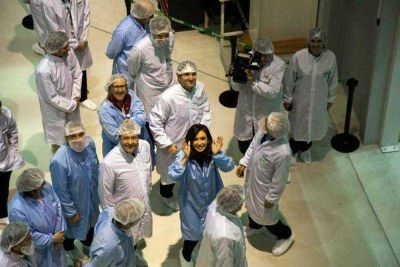 La Presidenta Cristina Fern�ndez de Kirchner visitar�a Bariloche para conocer el Arsat-2
