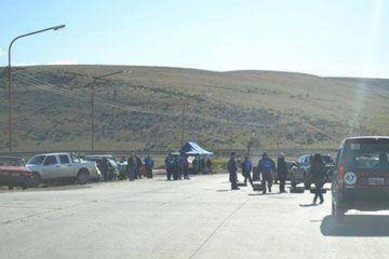 R�o Turbio: municipales cortaron la ruta y demandan respuestas