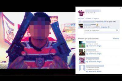 Inseguridad y violencia: la ostentación de armas por Facebook ya tiene un puntapié judicial