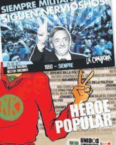 Kirchner: show, afichería y una road movie K al sur
