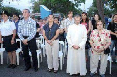 Lucía participó de la recuperación del campanario de la Parroquia San José Obreros