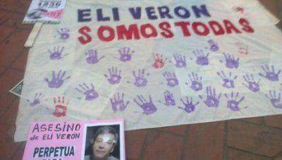 Repudian suspensión para el inicio del juicio por el femicidio de Eli Verón