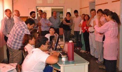 El candidato a Intendente Sergio Bordoni visitó América en el distrito de Rivadavia