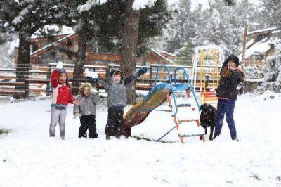 Copiosa nevada primaveral en Bariloche