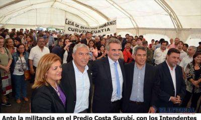 Rossi visitó el buque sanitario, otorgó actas históricas y su aval para la cesión de tierras