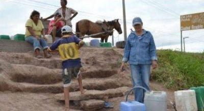 Charole propuso declarar la emergencia hídrica en varias zonas de la provincia