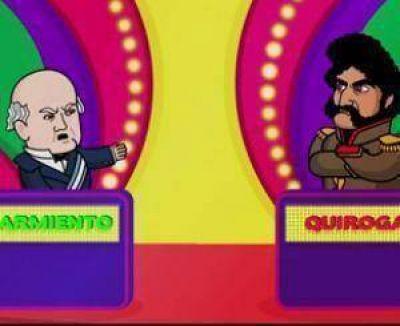 Sarmiento: un dibujo de TV abrió una nueva polémica
