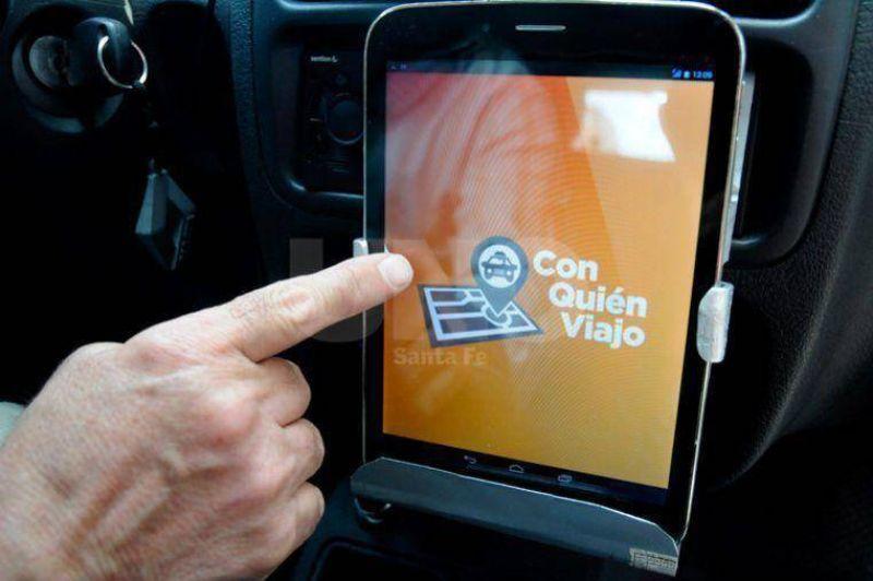 Los taxis de Santa Fe ya utilizan la aplicación ¿Con quién viajo?