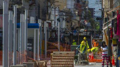 Ahora analizan parar obras en las peatonales
