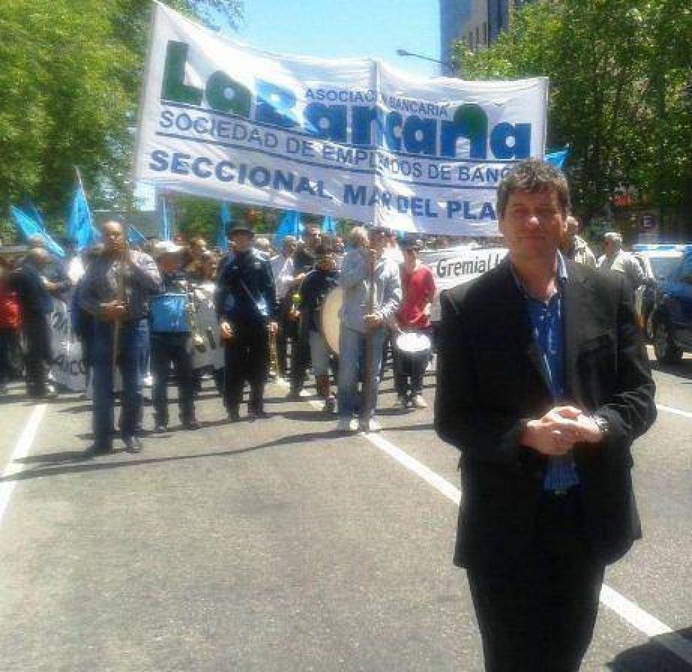 """""""El paro de los bancarios en Mar del Plata fue total"""""""
