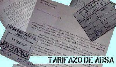 "Piden que las autoridades municipales se expresen en contra del ""tarifazo"" de ABSA"