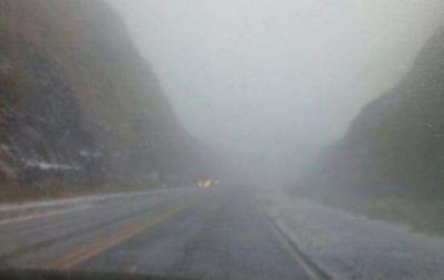La nieve sorprendió esta mañana a las Altas Cumbres