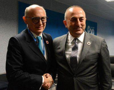 Timerman se reunió con el canciller de Turquía