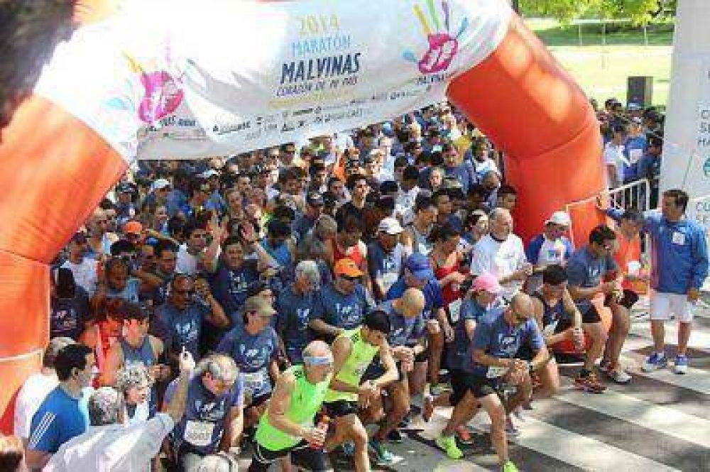 Amplia participación en la maratón que reivindicó la soberanía argentina sobre las Islas Malvinas