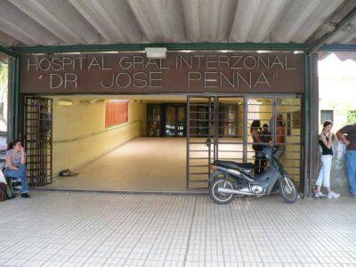 El Hospital Penna solo atenderá urgencias durante martes y jueves
