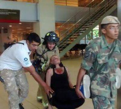 Centro Cívico: evacuaron el edificio en 15 minutos