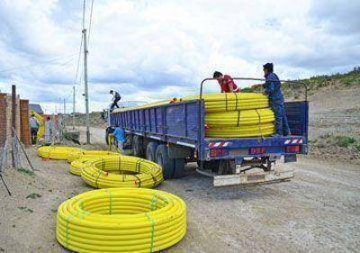 Llega material para red de gas en Bº Rotary alto