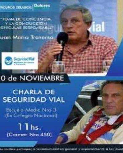 Juan María Traverso dará una charla en Dolores