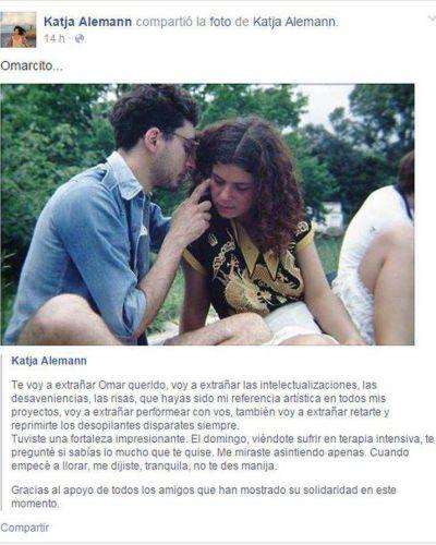 La emotiva despedida de Katja Alemann a Omar Chabán