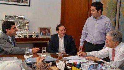 El ministro Julio De Vido recibió a Camau y a Giraud en Buenos Aires