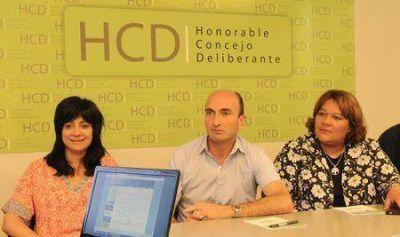 El Concejo Deliberante presentó su sitio web