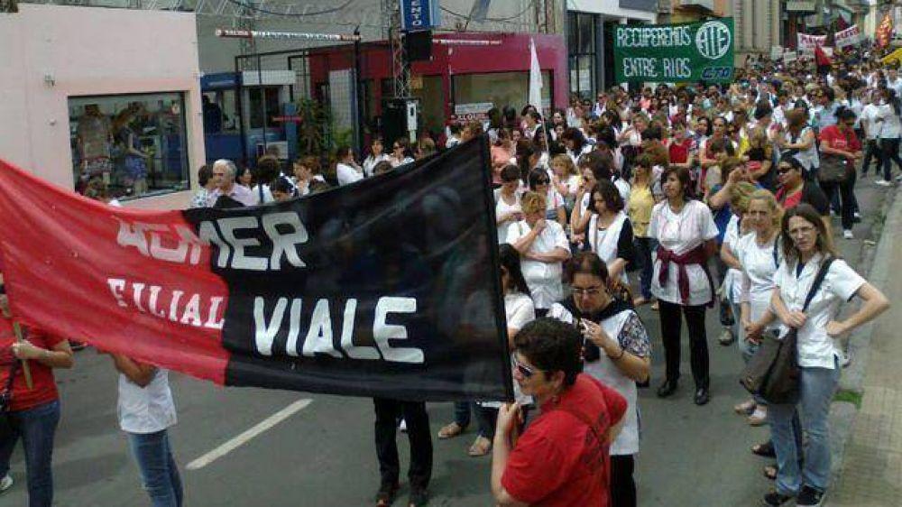 Gremios nucleados en la CTA Autónoma exigieron mejoras salariales
