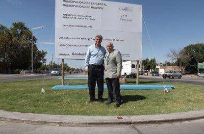 Rawson y Capital inaugurarán la obra de riego del Conector Sur y hoy los intendentes la visitaron
